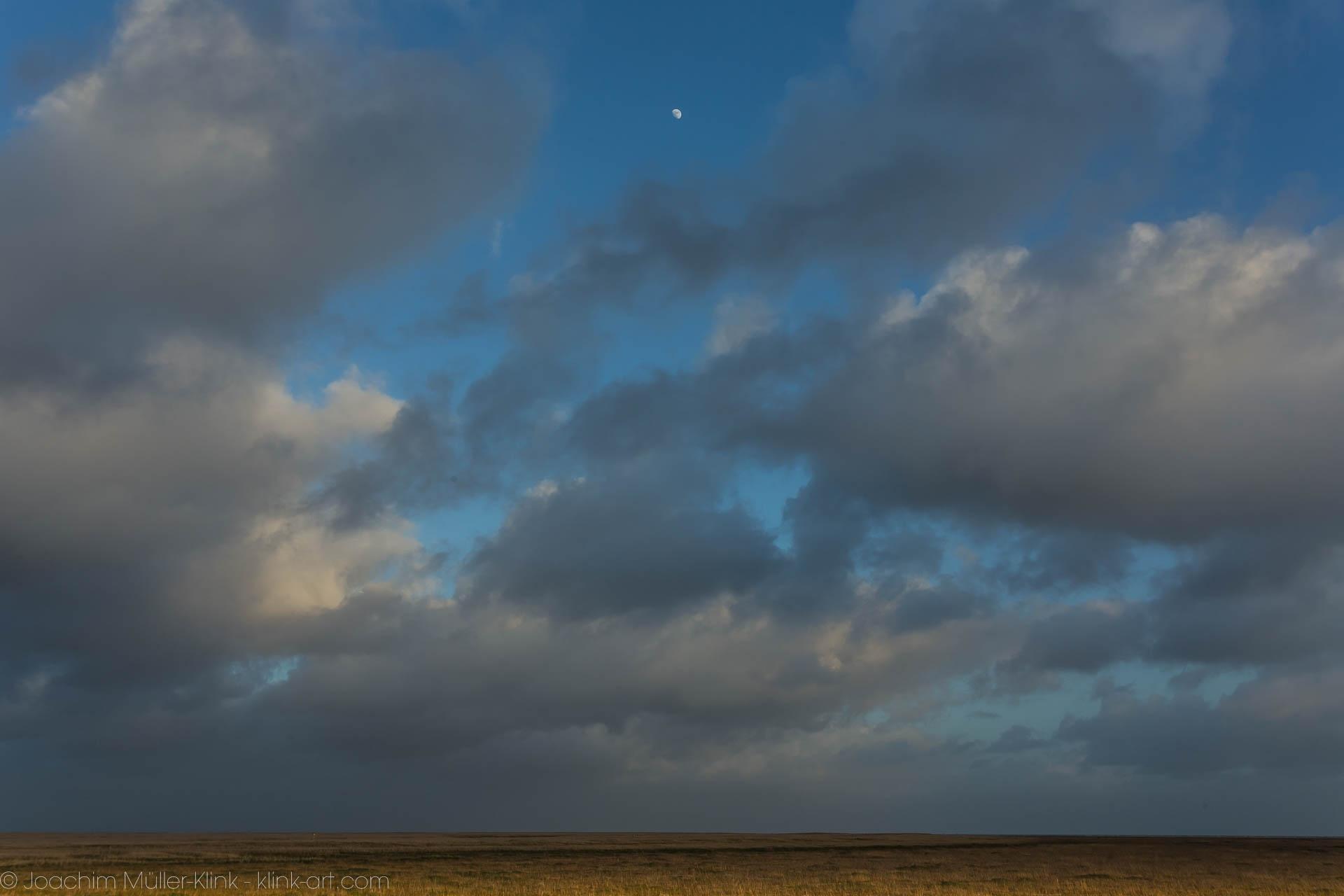 Mond über Watt