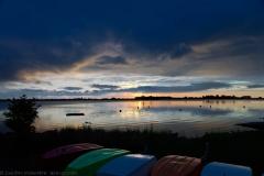 Boote bei Sonnenaufgang