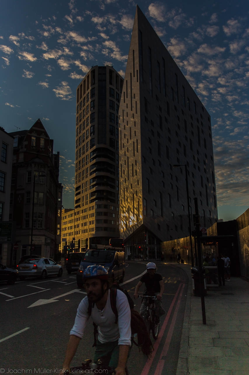 Sunset near Old Street