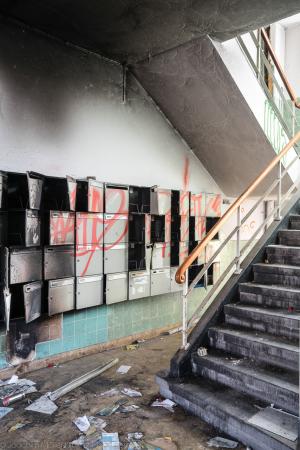Verlassenes Treppenhaus
